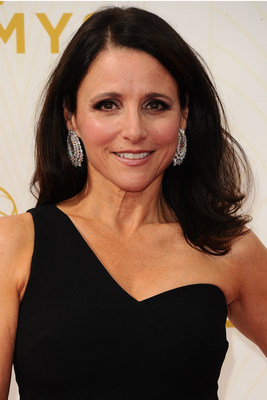 Emmy Winner Julia Louis-Dreyfus In Platinum Earrings #BePlatinum