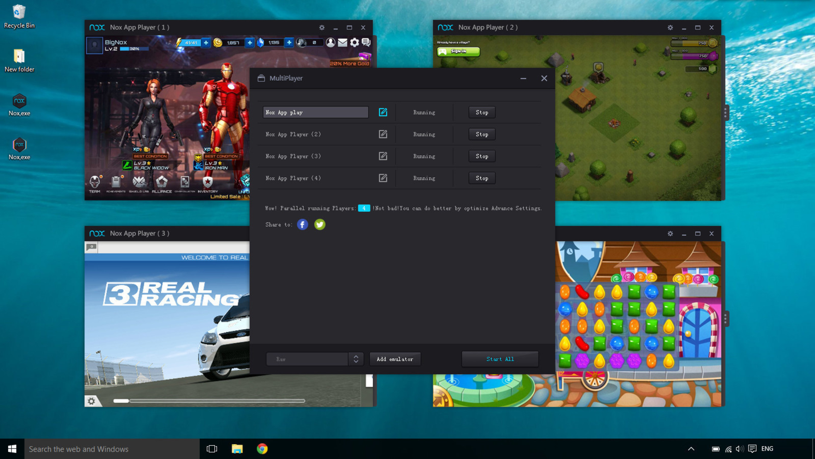 nox app emulator for pc