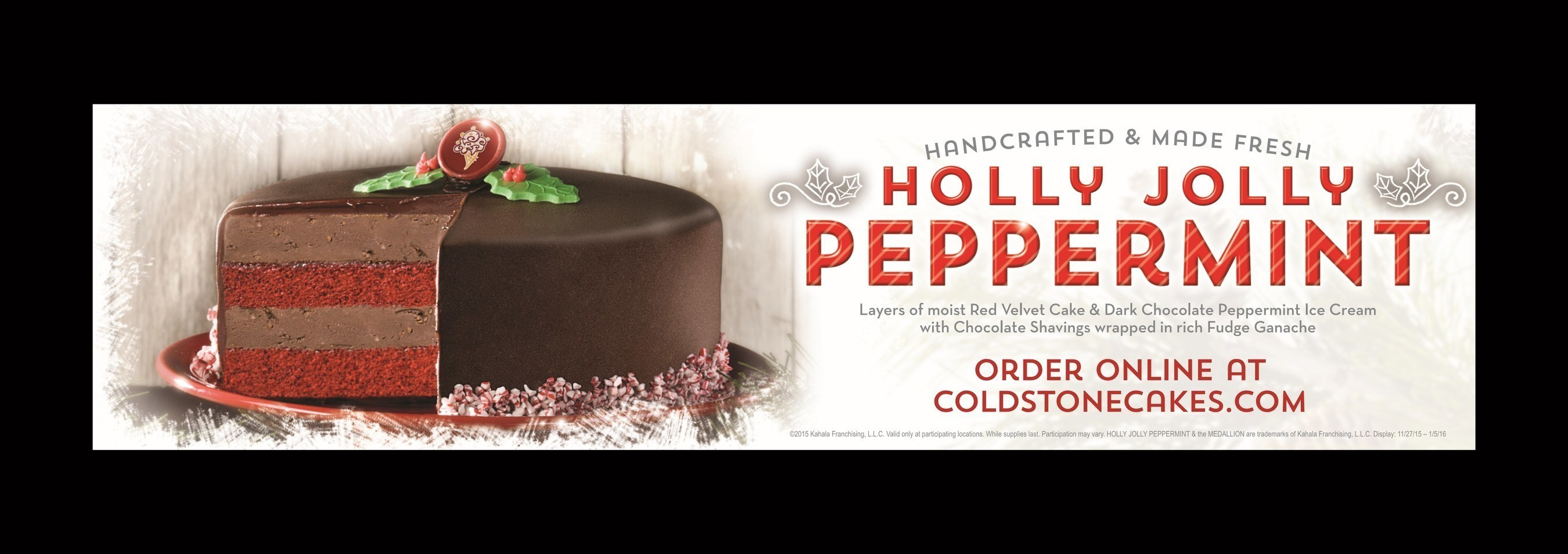 Holly Jolly Peppermint Cake