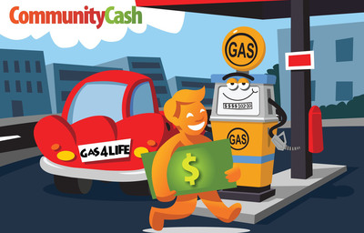 Community Cash's Claim Gas For Life(TM) contest is officially live. Join the site to receive $25 in Community Cash and start collecting more by referring friends. Community Cash will used for further discounts on future online and local deals.  (PRNewsFoto/Community Cash, Inc.)