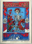 """Skeleton and Roses"" hand painted original silkscreen up for bid in the upcoming auction of rare Grateful Dead memorabilia taking place April 11-12 via Proxibid www.proxibid.com/greatamericanantiques."