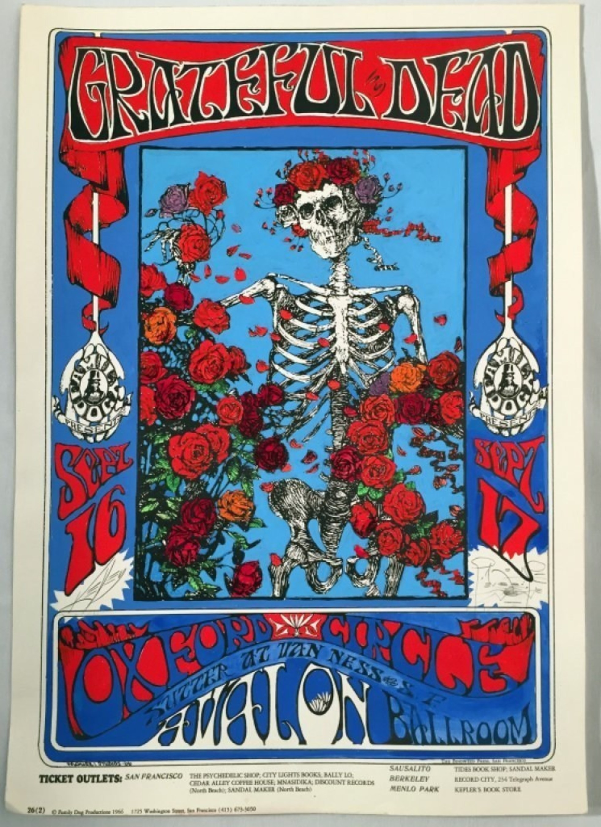 Rare Memorabilia from Rock n' Roll Legends The Grateful Dead to be Auctioned on Proxibid