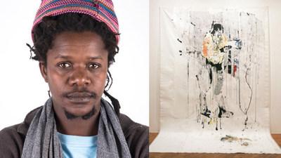 Gareth Nyandoro, from Zimbabwe, won the Emerging Voices art award.