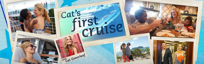 Cat's First Cruise web video series can be found here: //www.princess.com/come-back-new/cat-greenleaf-first-cruise/