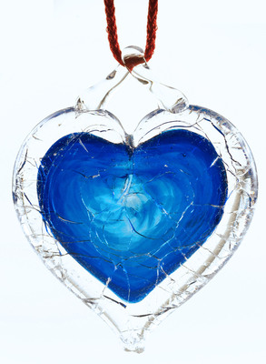 NGVAC - Blue Shattered Heart(TM) - universal symbol for sane gun laws. (PRNewsFoto/National Gun Victims Action...)