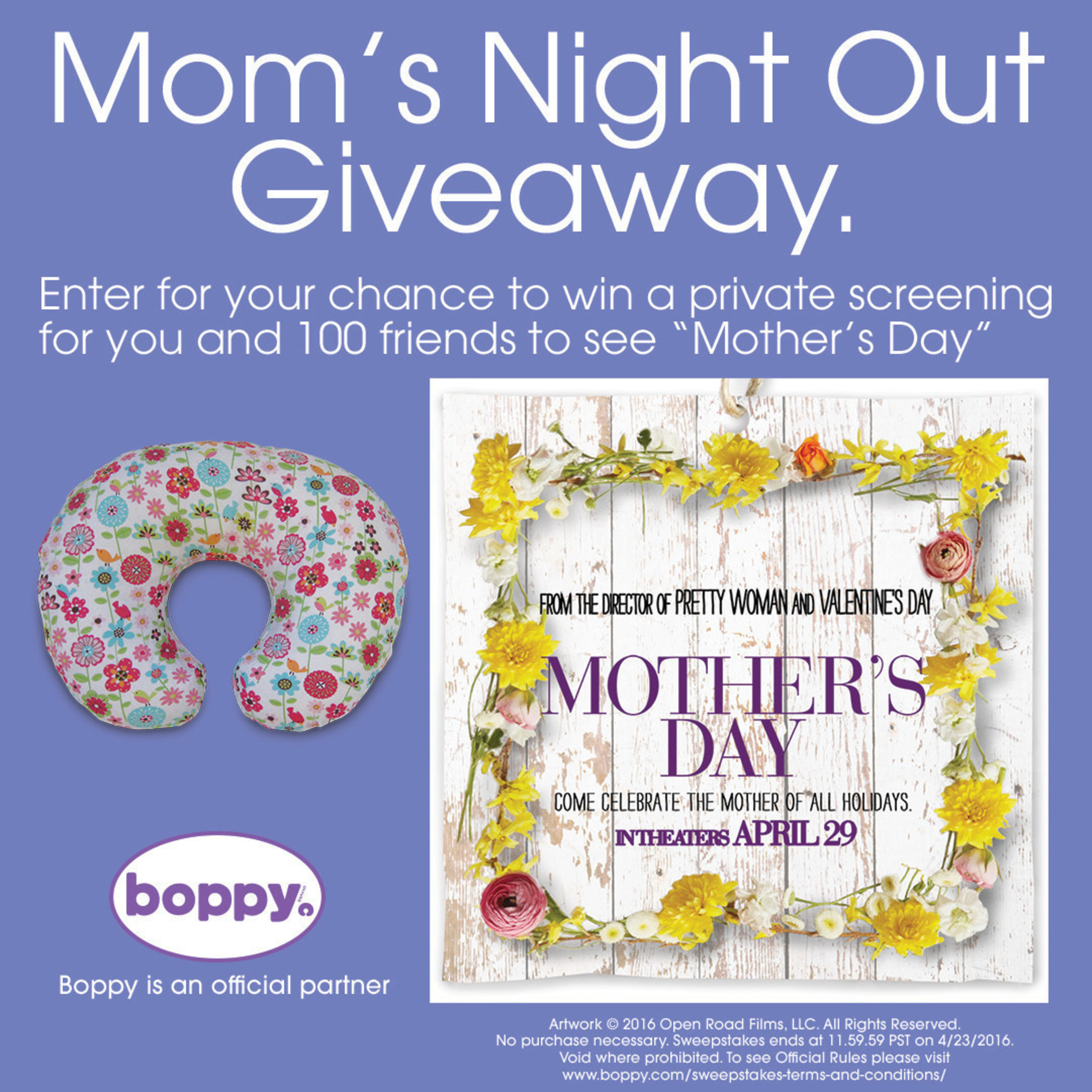 Boppy Mom's Night Out Giveaway