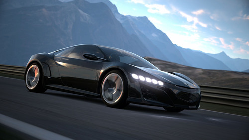 Acura NSX Supercar Concept to Debut in Virtual World Of Gran Turismo(R) Game. (PRNewsFoto/Acura) (PRNewsFoto/ACURA)