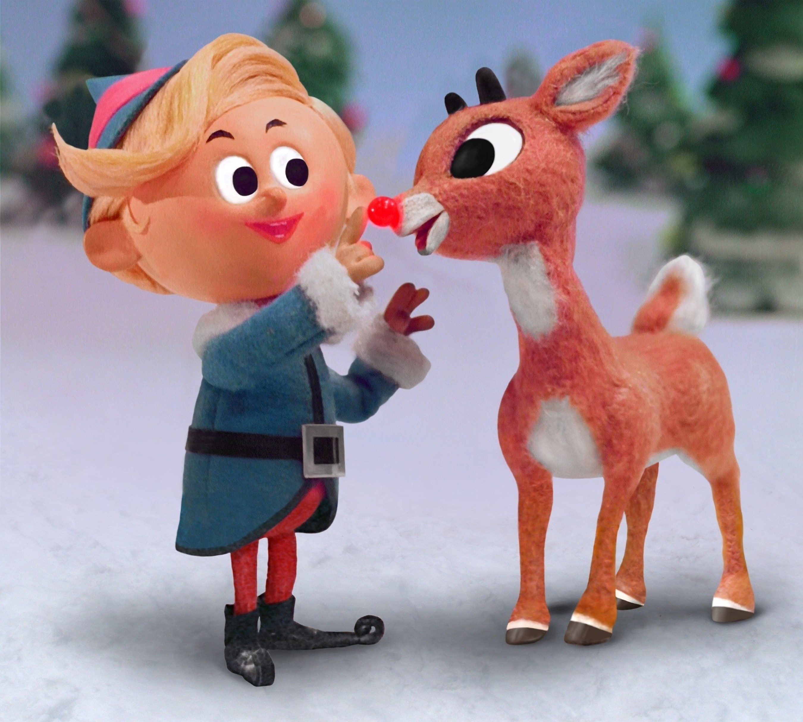 """Hermey and Rudolph first appeared on TV screens in the U.S. 50 years ago -- and on Nov. 4, a special DVD and Blu-ray collector's edition honor the 50th anniversary of the unforgettable TV special. Rudolph the Red-Nosed Reindeer(c) and (r) The Rudolph Co., L.P.  """"Rudolph the Red-Nosed Reindeer"""" animated program(c) Classic Media, LLC. All rights reserved. (PRNewsFoto/DreamWorks Animation)"""