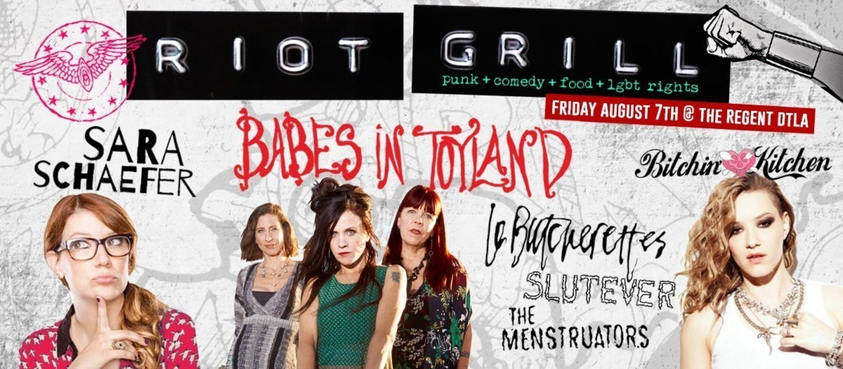 RIOT GRILL: Feminist Punk Rock, Food and Comedy Festival for LGBT Rights created by Celebrity Chef Nadia G Hits  ...