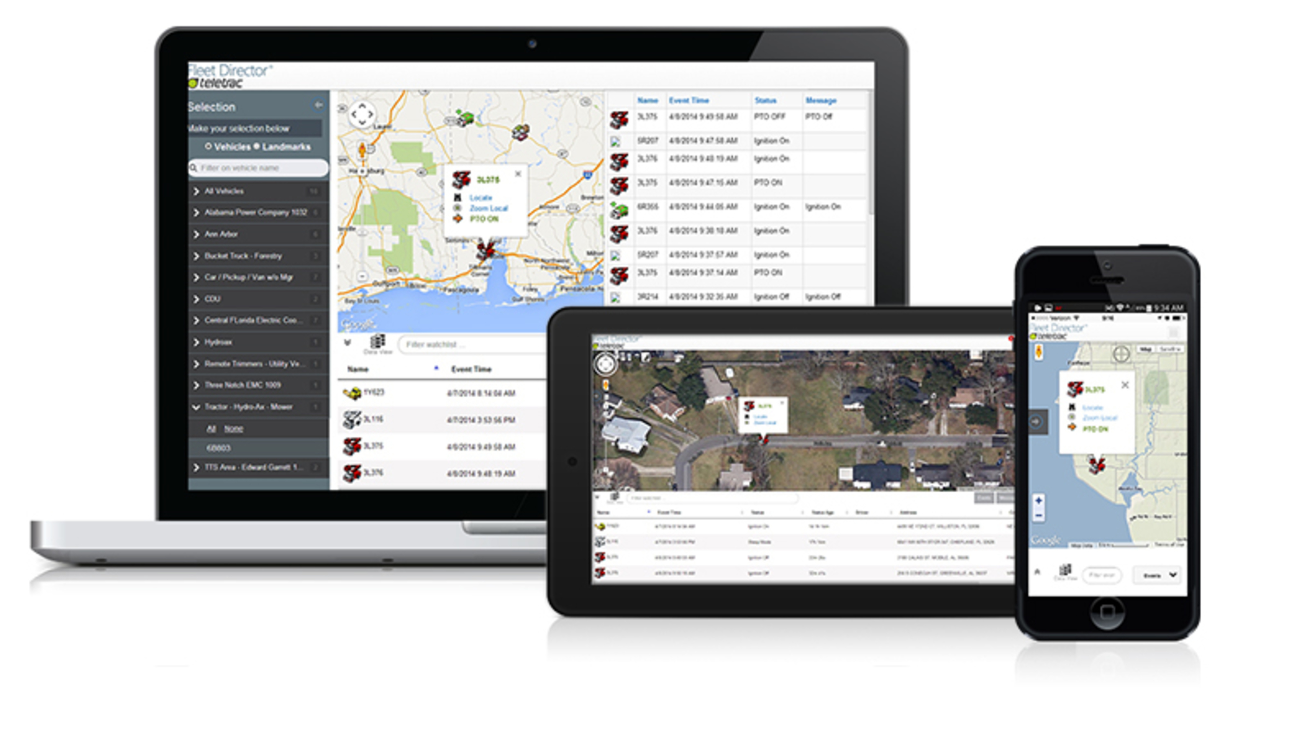 Teletrac GPS Viewer allows companies to monitor real-time vehicle activity directly from any mobile device and browser, 24/7. (PRNewsFoto/Teletrac Inc. )