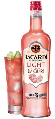 New BACARDI Classic Cocktails Light Strawberry Daiquiri.  (PRNewsFoto/Bacardi U.S.A., Inc.)