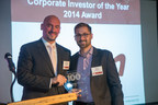 E.ON's Konrad Augustin accepts the CleanTech Group's Corporate Investor of the Year award for E.ON's pacesetting investments in start-ups that develop and market environmentally and climate-friendly technology. (PRNewsFoto/E.ON Climate & Renewables)