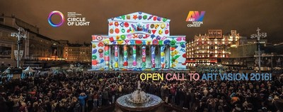 ART VISION is an International contest of 2D or 3D mapping projections on a facade of buildings playing up its geometry and architecture. Russian and International students, creative teams, design studios, etc may enter the Competition. Open Call until 1st August 2016. (PRNewsFoto/Circle of Light Festival)