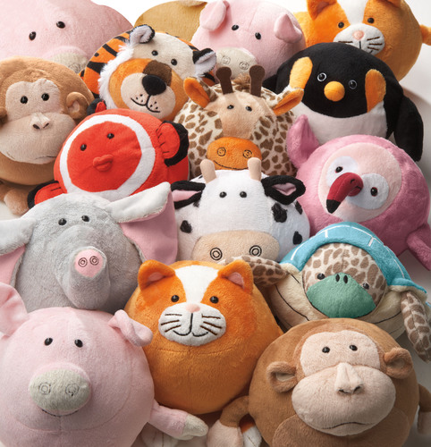 New Goofballz(TM) stuffed animals are on a roll -- literally! Round, huggable, collectible plush animals are the stars of the new Goofballz collection, available for the first time at Toy Fair 2013 (booth #2878). Each character features a unique name and tag with a fun trivia fact about the animal. Made of soft fabric, super plush filling and round as a ball, each playful animal is destined to become a favorite, making a great gift for any age. Goofballz are also infant-safe. Learn more at www.thegoofballz.com. (PRNewsFoto/Goofballz) (PRNewsFoto/GOOFBALLZ)