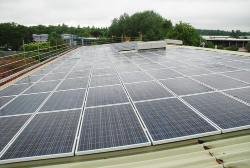200 solar panels on Travelworld Motorhomes roofs (PRNewsFoto/Travelworld Motorhomes)
