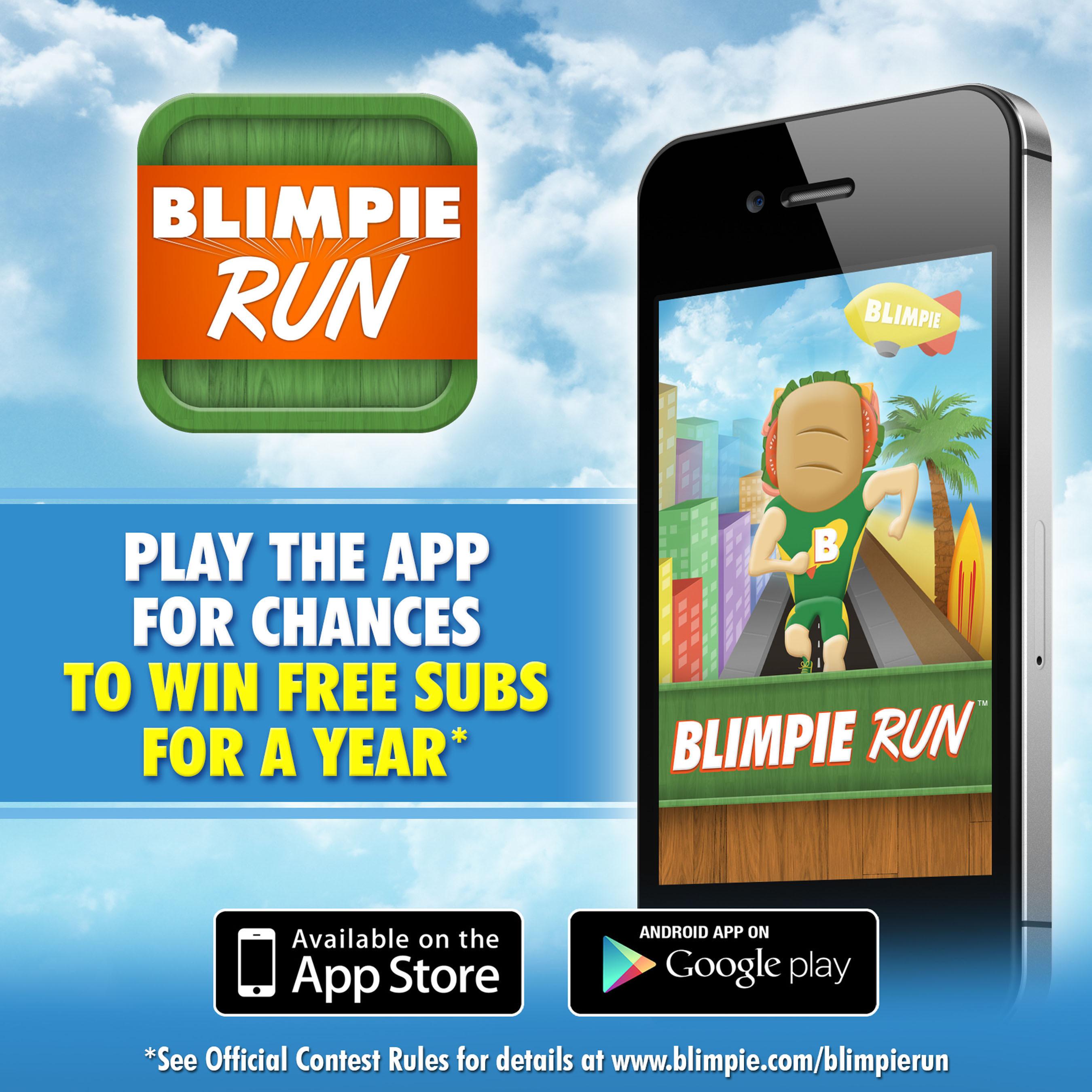 Blimpie Launches New App. (PRNewsFoto/Blimpie) (PRNewsFoto/BLIMPIE)
