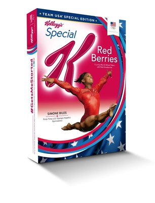 Simone Biles Special K with Red Berries box