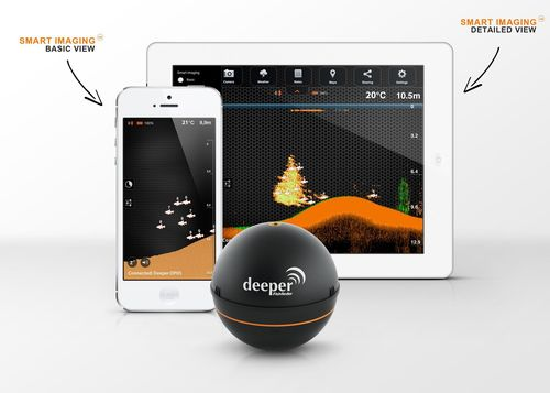 Deeper Smart Fishfinder works in conjunction both with smartphones and tablets. Smart imaging technology allows to choose basic and detailed mode for pro anglers. (PRNewsFoto/Friday Lab)