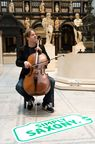 A musical treat from Saxony - Jan Vogler performing in front of visitors to the Victoria & Albert Museum in London.