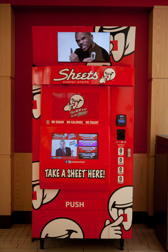 Sheets™ Energy Strips Invades Malls with Launch of State-of-the-Art Vending Machines
