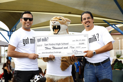 "CALIFORNIA SCHOOLS WIN ""GOT MILK?"" BREAKFAST CHALLENGE: Students Receive More than $40,000 for Student Activities"