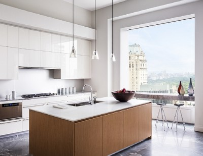 Kitchen in the model residence at 432 Park Avenue. Photo by Scott Frances for CIM Group & Macklowe Properties.