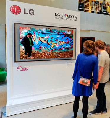 LG donated one premium Ultra HD 4K TV and OLED TV to each school participating in The Art of the Pixel: Powered by LG Ultra HD and OLED TV, a student competition for outstanding digital or new media artwork. Pictured at the School of the Museum of Fine Arts, Boston, the TVs will provide the digital canvas that will bring each pixel of the students' artwork to life.