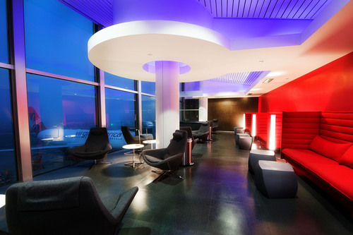 The Virgin America Loft Launches at LAX Terminal 3.  (PRNewsFoto/Virgin America)
