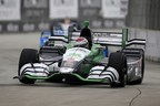 Carlos Munoz led a 1-2 finish for Honda in Saturday's Detroit IndyCar race