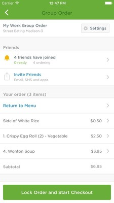 EatStreet's platform-wide FoodCrew functionality makes it easy to order food online for a crowd. Invite friends, coworkers, or family members to a group order and choose to split-the-bill or pay for it all.