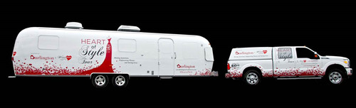 WomenHeart and Burlington Heart of Style Airstream bus is on the road!  (PRNewsFoto/WomenHeart: The National ...