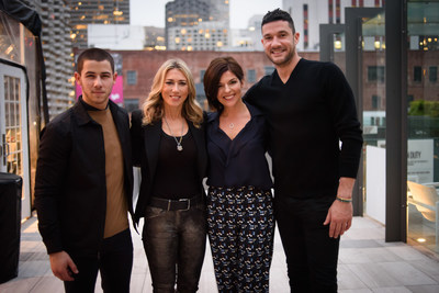 From Left to Right: BEYOND TYPE 1 Co-Founders Nick Jonas, Juliet de Baubigny, Sarah Lucas, and Sam Talbot