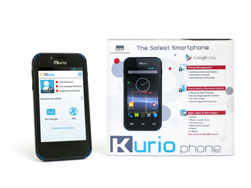 Kurio Phone from Techno Source and KD Interactive is an Android smartphone made just for kids.  The perfect first phone, Kurio Phone has all of the sophisticated smartphone features kids want, combined with the advanced parental controls and safety features for which parents have been waiting.  (PRNewsFoto/Techno Source)
