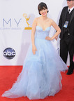 Nominee Zooey Deschanel wears Forevermark The Center of My Universe(TM) to the 64th Primetime EMMY Awards.  (PRNewsFoto/Forevermark, Jon Kopaloff/FilmMagic)