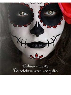 Day Of The Dead Face Paint Pink