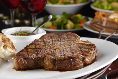 Try LongHorn Steakhouse's exclusive new Porterhouse for Two, a 30 oz. bone-in steak featuring a tender filet and robust strip in one, only available at LongHorn Steakhouse.