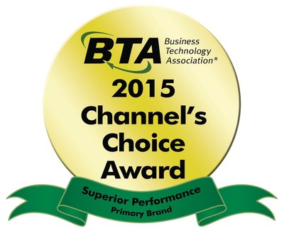 Sharp wins 2015 BTA Channel's Choice Award for Superior Performance