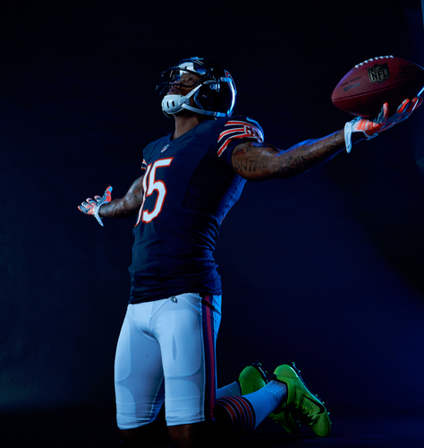 Brandon Marshall, NFL Pro Bowl wide receiver with the Chicago Bears, and his wife Michi created the Brandon Marshall Foundation to increase awareness of mental illness and raise funds for mental health treatment. (PRNewsFoto/Linden Oaks Hospital at Edward)