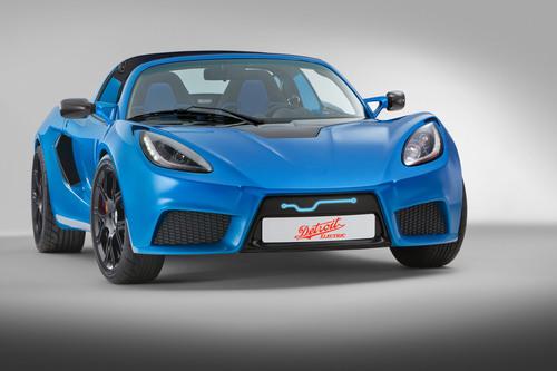 The 2014 Detroit Electric SP:01 all-electric sports car.  (PRNewsFoto/Detroit Electric)