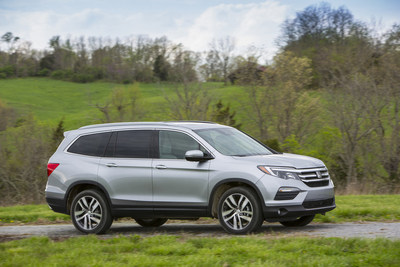 "Honda Pilot, Named ""Best Three-Row SUV"" in Cars.com Midsize SUV Challenge"