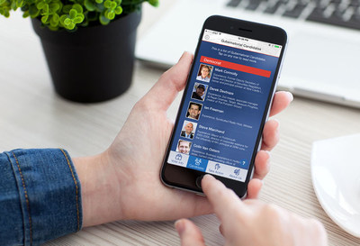 Easy to use app shows users all the candidates and where they stand on the issues.