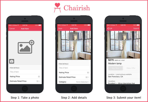 New Chairish Mobile App Makes Selling Pre-loved Furniture as