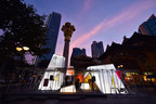 MUJOSH pop-up store - the Lab Project Season 2 - glows in Shanghai at night