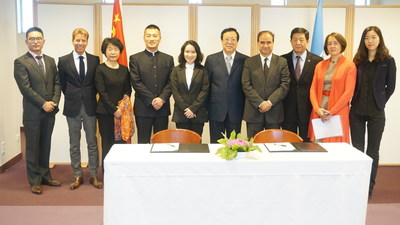 Executives from Perfect World meet with leaders of the Ministry of Education of the People's Republic of China and the principals of UNESCO