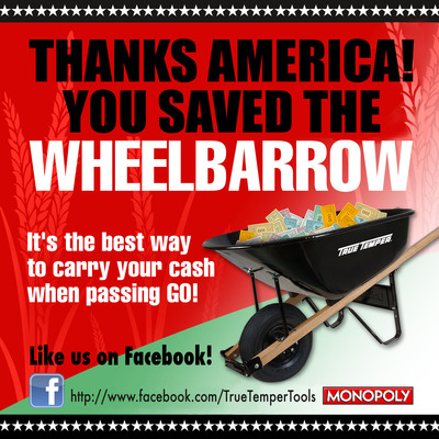 You saved the wheelbarrow! Like True Temper on Facebook at https://www.facebook.com/TrueTemperTools.(PRNewsFoto/Ames True Temper) (PRNewsFoto/AMES TRUE TEMPER)