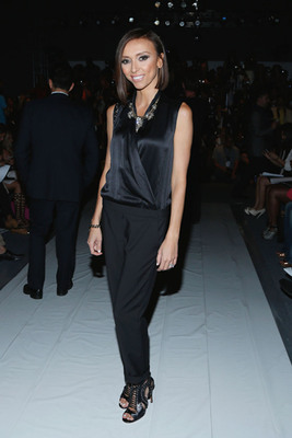 Giuliana Rancic at New York Fashion Week wearing a LOFT by Suzanna Dai Necklace in support of the Breast Cancer Research Foundation. Photo Credit: Cindy Ord, Getty Images