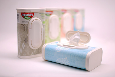 Huggies(R) Wipes in Designer Tubs Win 2014 Product of the Year Award.  (PRNewsFoto/Kimberly-Clark)