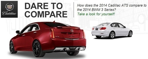 The comparison between the 2014 Cadillac ATS and the BMW 3 Series carries a lot of advantages for the Cadillac ...