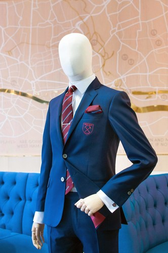 Close up to the H&C suit for WHUFC (PRNewsFoto/Hawes & Curtis)