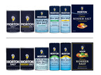 Morton Salt is rolling out a new package design system (top) for its consumer products in 2014.  The new design system preserves the iconic elements of the Morton brand, and uses contemporary fonts and simpler communication hierarchies than the previous packaging design (bottom).  (PRNewsFoto/Morton Salt, Inc.)